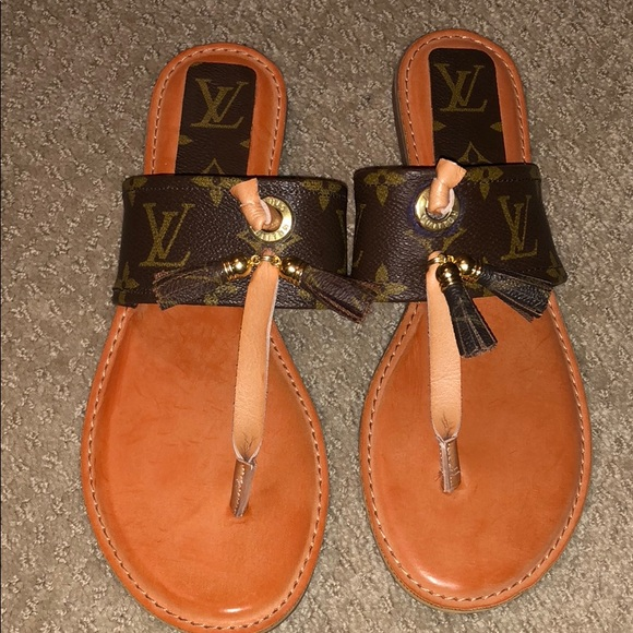 Shoes Womens Sandals With Recycled Louis Vuitton Poshmark